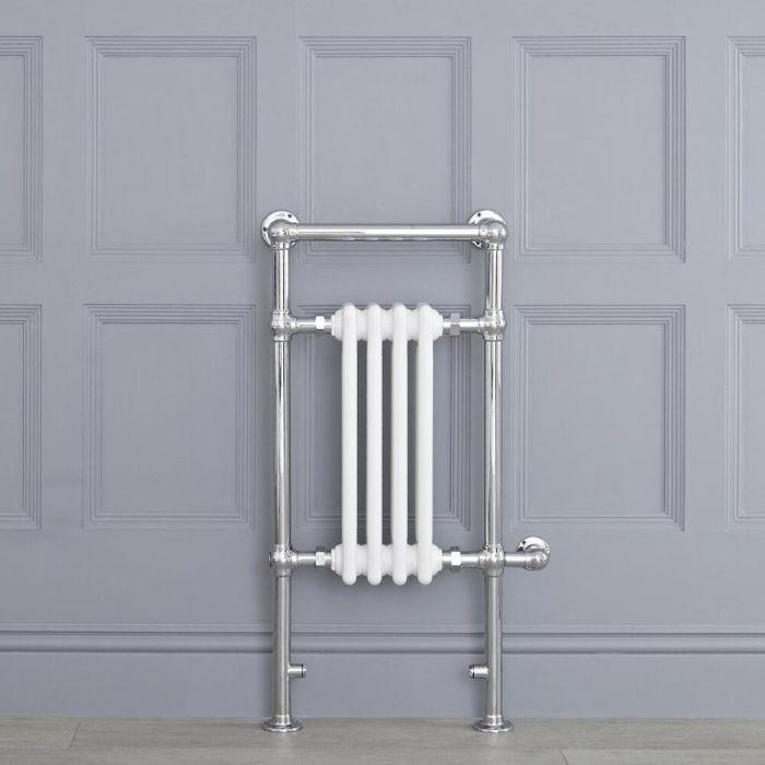 Avon Park Klassieke Elektrische Handdoekradiator Chroom/Wit 93cm x 45,2cm x 15,5cm