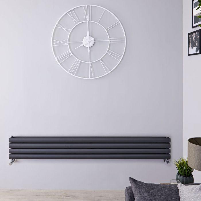 Revive Designradiator Horizontaal Antraciet 23,6cm x 178cm x 7,8cm 921 Watt