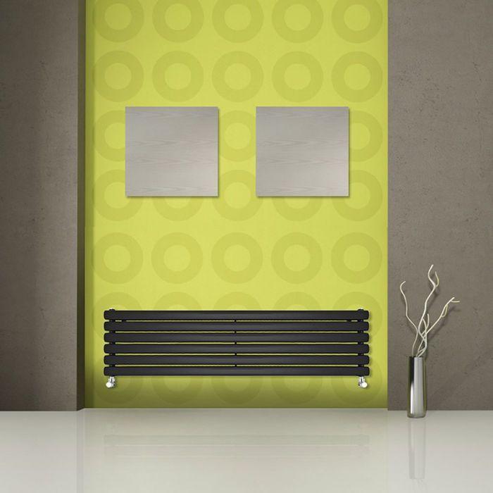 Revive Designradiator Horizontaal Zwart 35,4cm x 178cm x 7,8cm 1325Watt
