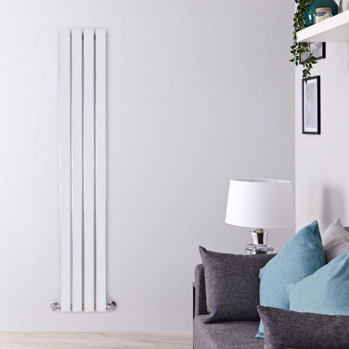 Delta Designradiator Verticaal Chroom 180cm x 30cm x 5cm 445 Watt
