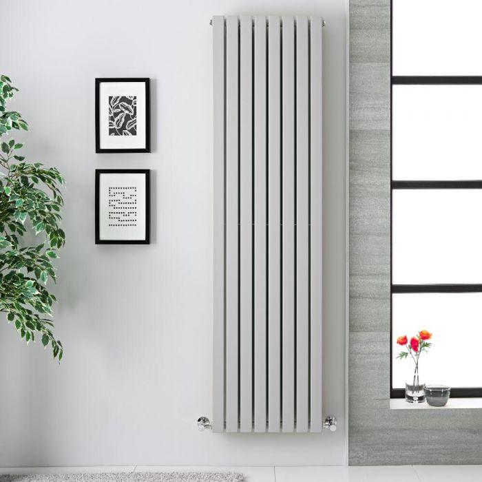 Sloane Designradiator Verticaal Dubbel Paneel Licht Grijs 178cm x 47,2cm x 7,2cm 1931 Watt