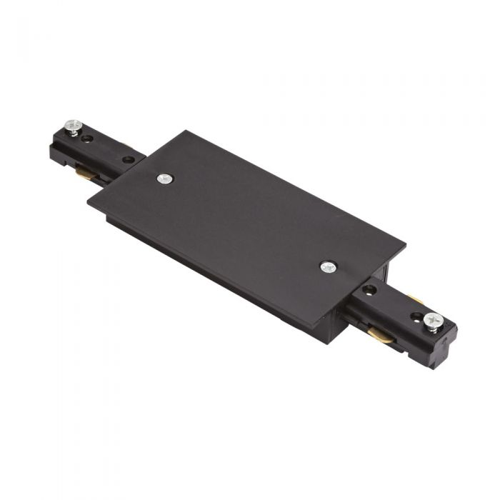 Biard 1-fase Rechte Doorverbinder voor Verzonken Railverlichting - Zwart