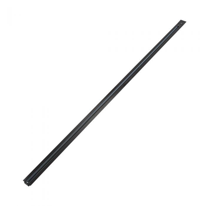 Biard 1-fase Verzonken Spanningsrail - 200cm - Zwart