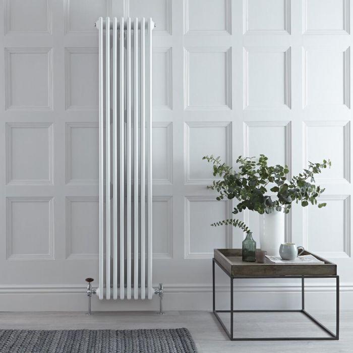 Designradiator Verticaal Klassiek Wit 180cm x 36cm x 13,3cm 2153 Watt - Windsor