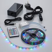Biard IP20 3528 RGB LED strip verlichting incl Driver, IR Controller & Kabel - 5 meter