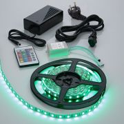 IP20 5050 Rgb Led Strip Verlichting Incl Driver, Ir Controller & Kabel - 5 Meter