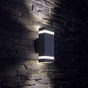 Biard Architect Op- & Neerwaartse Buitenlamp - Gehoekt - Zwart