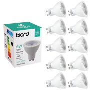 Biard 10 x GU10 6W LED Spot - Vervangt 50W - Dimbaar