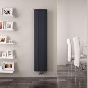 Aurora Designradiator Verticaal Middenaansluiting Aluminium Antraciet 160cm x 28cm x 4,5cm 1021 Watt