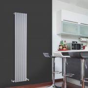 Sloane Designradiator Verticaal Zilver 160cm x 35,4cm x 5,4cm 861 Watt