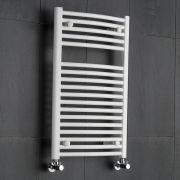 Etna Gebogen Handdoekradiator Wit 80cm x 50cm x 56cm 466 Watt