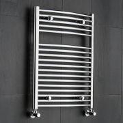Ischia Gebogen Handdoekradiator Chroom 80cm x 60cm x 5,2cm 389 Watt