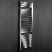 Ischia Gebogen Handdoekradiator Chroom 180cm x 60cm x 5,2cm 827 Watt