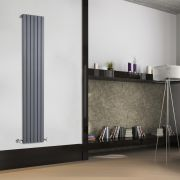 Sloane Designradiator Verticaal Antraciet 178cm x 35,4cm x 5,3cm 897 Watt