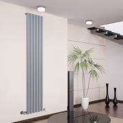 Savy Designradiator Verticaal Zilver 178cm x 35,4cm x 8cm 1043 Watt