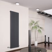 Savy Designradiator Verticaal Antraciet 160cm x 47,2cm x 8cm 1278 Watt
