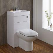 Toilet met ingebouwde wastafel - 50cm x 86cm x 90,5cm