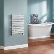 Select Gebogen Handdoekradiator Wit 65cm x 44,5cm x 4,5cm 456 Watt