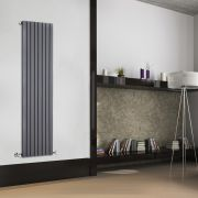 Sloane Designradiator Verticaal Antraciet 160cm x 47,2cm x 5,4cm 1149 Watt