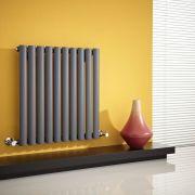 Revive Designradiator Horizontaal Antraciet 63,5cm x 59,5cm x 5,5cm 597 Watt