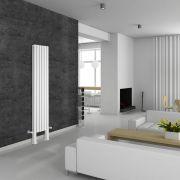 Revive Plus Designradiator Verticaal Met poten Wit 180cm x 35,4cm x 7,8cm 1228 Watt