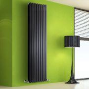 Helius Designradiator Verticaal Zwart 178cm x 56cm x 8,6cm 2158 Watt