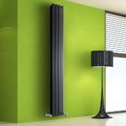Helius Designradiator Verticaal Zwart 178cm x 28cm x 8,6cm 1079 Watt