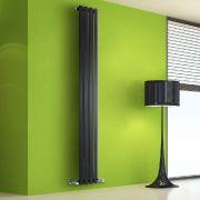 Helius Designradiator Verticaal Zwart 178cm x 28cm x 6cm 700 Watt