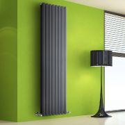 Helius Designradiator Verticaal Antraciet 178cm x 56cm x 8,6cm 2158 Watt