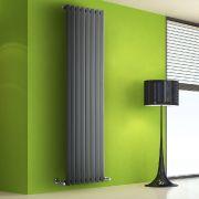 Helius Designradiator Verticaal Antraciet 178cm x 56cm x 6cm 1401 Watt