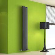 Helius Designradiator Verticaal Antraciet 160cm x 28cm x 6cm 630 Watt