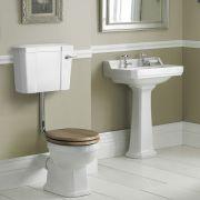 Richmond Wastafel - 59,5cm & Halfhoog Toilet en Keuze Toiletzitting