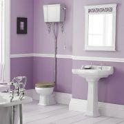 Richmond Wastafel - 50cm & Hooghang Toilet en Keuze Toiletzitting