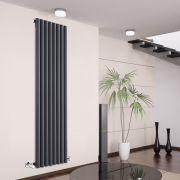 Savy Designradiator Verticaal Antraciet 178cm x 47,2cm x 8,1cm 1391 Watt