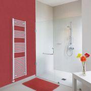 Ischia Gebogen Handdoekradiator Elektrisch Chroom 180cm x 50cm x 4,5cm