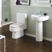 Retro Duoblok toilet met Waterreservoir en Toiletzitting