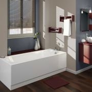 Afgerond Acryl Ligbad - 170 x 70cm excl. badpaneel