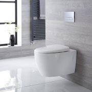 Kenton Hangend Keramiek Toilet incl WC Bril Ovaal Wit