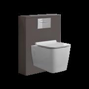 Newington Toilet Ombouw met Hangend Toilet Incl Toilet Stortbak 3/6L  Mat Grijs