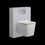 Newington Toilet Ombouw met Hangend Toilet Incl Toilet Stortbak 3/6L  Mat Wit
