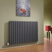 Sloane Elektrische Radiator Horizontaal Antraciet 63,5cm x 100cm x 5,4cm