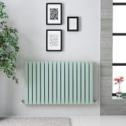 Sloane Designradiator Horizontaal Dubbel Paneel Mint Groen 63,5cm x 100cm x 7,1cm 1022 Watt