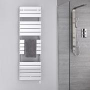 Verchroomd Stalen Elektrische Handdoekradiator incl 600 W Verwarmingselement - 151,2cm x 45cm