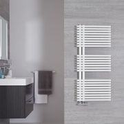 Bari Designer Handdoekradiator Mineraal Wit 112cm x 50cm 734Watt