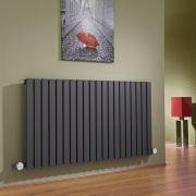 Sloane Designradiator Elektrisch Horizontaal Antraciet 63,5cm x 118cm x 5,3cm