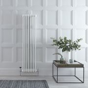 Windsor Designradiator Verticaal Klassiek Wit 150cm x 38,3cm x 6,8cm 1387 Watt