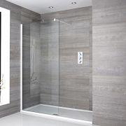 Inloopdouche Combinatie Wit & Acryl Douchebak 160 x 80cm