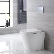 Staand Keramiek Toilet incl WC Bril Ovaal Wit