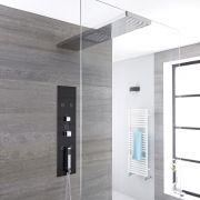 Llis 3-weg Thermostatisch Inbouw Douchepaneel Staalgrijs 80 x 25cm Douchehemel (voor bevestiging douchewand) Handdouche & Bodyjets