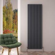 Revive Air Verticale Aluminium Dubbelpaneel Designradiator Antraciet 180cm x 59cm x 7,6cm 2506Watt